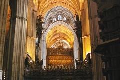 V sevil.katedrále,kde je pochovaný Kryštof Kolumbus