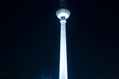 Věž Fernsehenturm vysoká 368 m