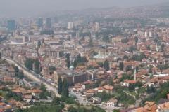 Pohled na Sarajevo z vrchu