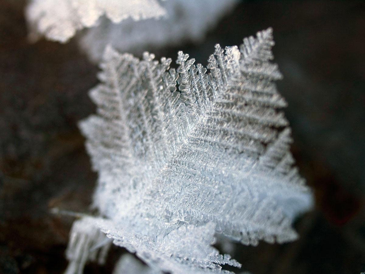 A opět krystalky na ledu