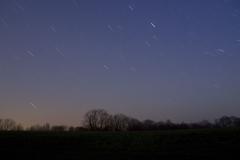 Noční obloha 2 (čas expozice 8 minut)