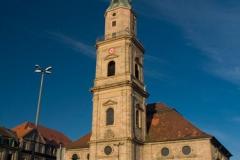 Erlangen je i historické město. Hugenotten Kirche
