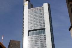 Nejvyšší mrakodrap ve Franfurtu Commerzbank Tower vysoký 259 metrů