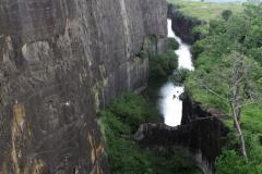 Vodní příkop nedobytné obrovské pevnosti Daulatabád.