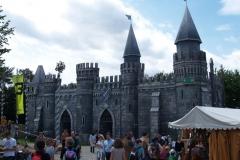 Středověký hrad, kde se hodovalo a tancovalo