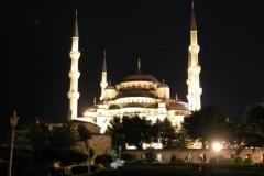 Večerní Modrá mešita