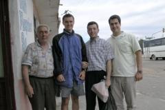 4.den-Další pozvání na čaj (zleva Hasan, já, Ahmet a Nehmet)