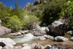 Divoká řeka v rokli Spelunca