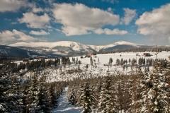 Pohled na Sněžku a Lučiny
