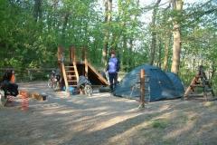 4.den- dětské hřiště jsme na noc obsadili my.
