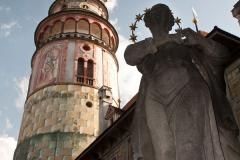 Věž zámku v Českém Krumlově