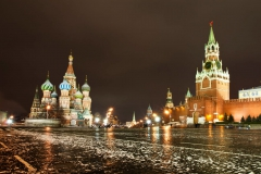 Rudé náměstí - Chrám Vasila Blaženého a Spasitelova věž