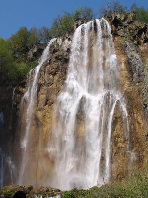 Největší vodopád v N.P. Plitvická jezera