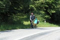 1.den- Kopec za Kroměříží, Mio jde pěšky
