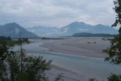 Pohled zpět na Alpy