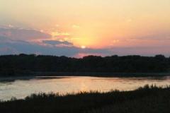 Západ slunce u Supu.