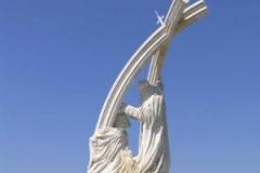 Zajímavá socha v Estergomi.