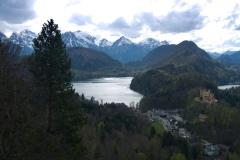 Výhled na hory a Alpsee