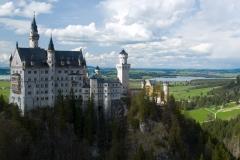 Nejkrásnější pohled na zámek je z Marien Brücke