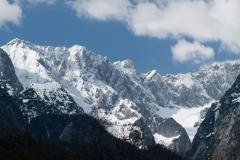 Masiv Zugspitze - nejvyšší hory Německa