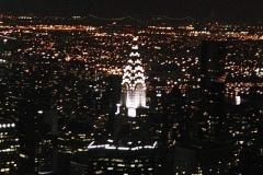 Osvětlený Chrysler Building