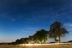 Noční obloha - expozice 25 sekund