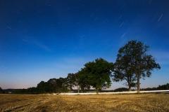 Noční obloha - expozice 16 minut 20 sekund