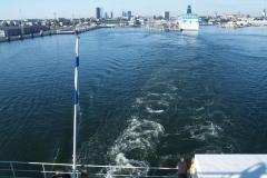 Pohled na Tallin z trajektu