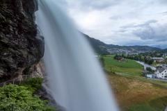 Cestou zpět - vodopád Steinsdalsfossen