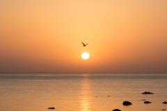 Západ slunce nad Baltským mořem