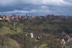 Výhled na středověké město