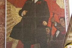 Mozaika Lenina v metru (nesmí se fotit)