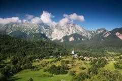 Julské alpy, vesnice Drežnica