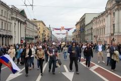 Něvský prospekt - oslavy 309. výročí založení města.