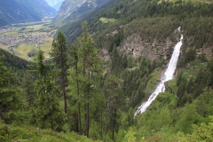 Vodopád Stuibenfall v Rakousku