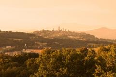 V pozadí věže městečka San Gimigano