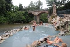 Volné koupání v termální vodě - Terme di Petriolo
