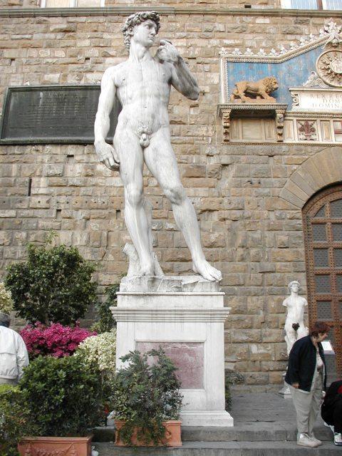 Socha Davida od Michelangela.