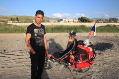 Kurd, co mi pomohl dojednat spaní v restauraci.