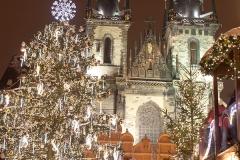 Vánoční stromeček a Týnský chrám