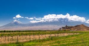 Hora Ararat a klášter Khor Virap