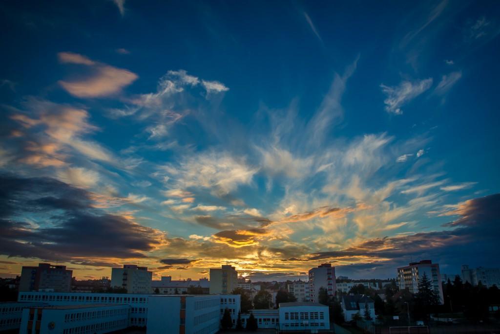 Západ slunce nad Mladou Boleslaví