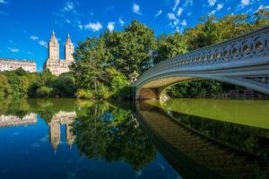 New York City - Bow Bridge v Central Parku