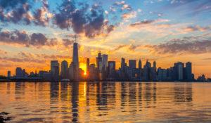 New York City - Financial District - Východ slunce