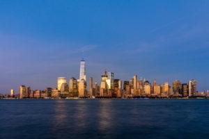 New York City - Financial District při západu slunce