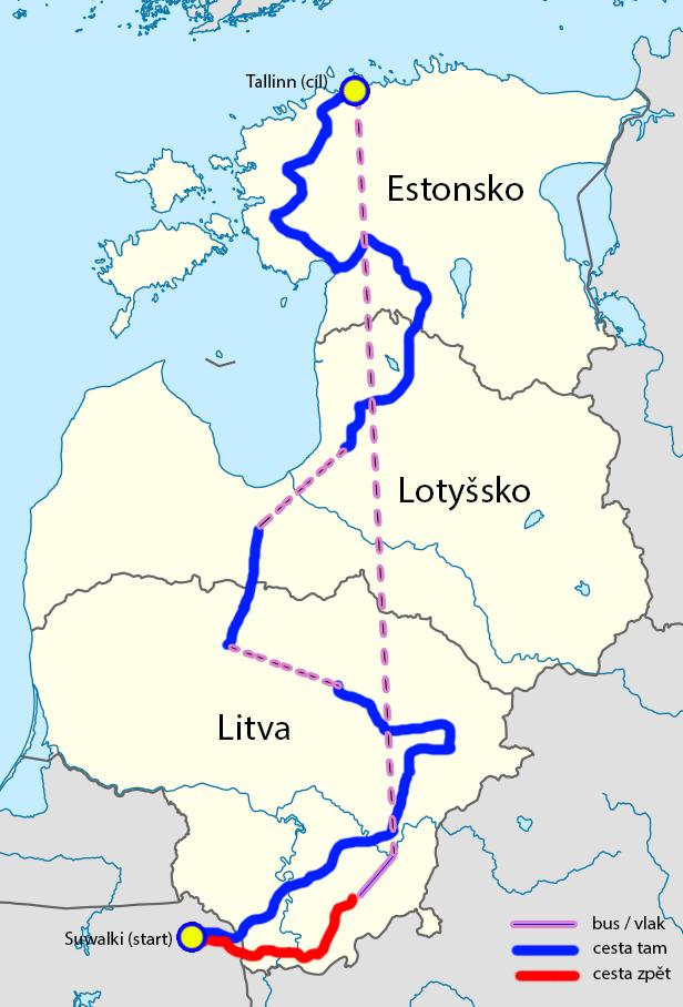 Mapa Pobaltí